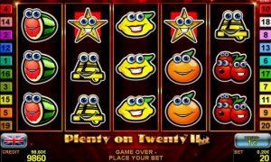 Casino Slot Plenty on Twenty™ II hot
