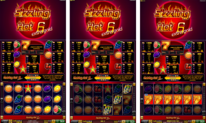 Sizzling Hot™ 6 extra gold free slot machine