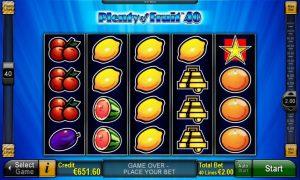 Plenty of Fruit™ 40 Slot Online Gratis
